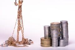 χρυσά χρήματα Στοκ Εικόνα