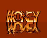 χρυσά χρήματα Στοκ εικόνες με δικαίωμα ελεύθερης χρήσης