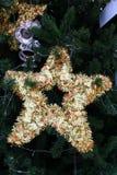 Χρυσά Χριστούγεννα αστεριών στοκ εικόνα