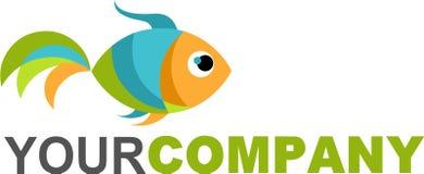 Χρυσά ψάρια λογότυπων Στοκ Φωτογραφίες