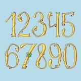 Χρυσά ψηφία ημερησίως του ST Πάτρικ s abc μηχανικό καθορισμένο χρονοδιάγραμμα επιστολών αλφάβητου διανυσματική απεικόνιση