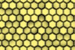 Χρυσά hexagons για τη σύγχρονη ζωή Στοκ εικόνα με δικαίωμα ελεύθερης χρήσης