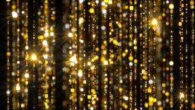 Χρυσές αλυσίδες κουρτινών απόθεμα βίντεο