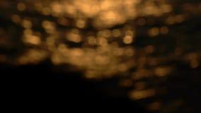 Χρυσές αντανακλάσεις απόθεμα βίντεο