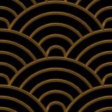Χρυσές αψίδες άνευ ραφής Στοκ Εικόνες