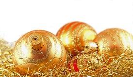 χρυσές διακοσμήσεις Στοκ Φωτογραφία
