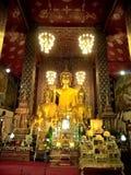 Χρυσές εικόνες του Βούδα στην Ταϊλάνδη Στοκ εικόνα με δικαίωμα ελεύθερης χρήσης