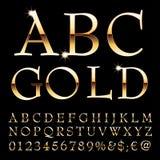 Χρυσές επιστολές Abc Στοκ εικόνα με δικαίωμα ελεύθερης χρήσης