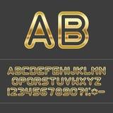 Χρυσές επιστολές αλφάβητου Στοκ φωτογραφία με δικαίωμα ελεύθερης χρήσης