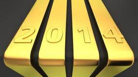 Χρυσές κορδέλλες 2014 Στοκ εικόνες με δικαίωμα ελεύθερης χρήσης