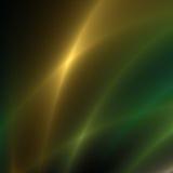 Χρυσές και πράσινες ραβδώσεις του φωτός στοκ εικόνα