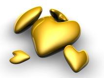 χρυσές καρδιές απεικόνιση αποθεμάτων