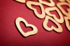 χρυσές καρδιές Στοκ Φωτογραφία