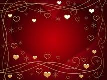χρυσές καρδιές Στοκ εικόνα με δικαίωμα ελεύθερης χρήσης