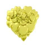 Χρυσές καρδιές βαλεντίνων Στοκ φωτογραφίες με δικαίωμα ελεύθερης χρήσης