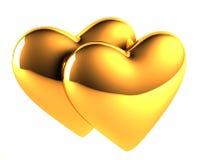 χρυσές καρδιές Στοκ Φωτογραφίες