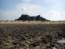 Χρυσές καταστροφές οσμηρών της Αρούμπα Bushiribana με την επιθυμία των βράχων Στοκ εικόνες με δικαίωμα ελεύθερης χρήσης