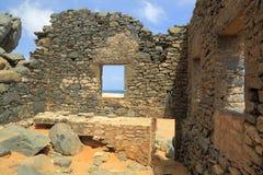 Χρυσές καταστροφές χυτών Bushiribana Βόρεια ακτή, νησί της Αρούμπα Στοκ φωτογραφία με δικαίωμα ελεύθερης χρήσης