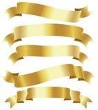 χρυσές κορδέλλες Στοκ Εικόνα
