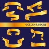 χρυσές κορδέλλες Στοκ φωτογραφία με δικαίωμα ελεύθερης χρήσης