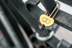 Χρυσές κλειδαριές κάστρων Στοκ φωτογραφία με δικαίωμα ελεύθερης χρήσης