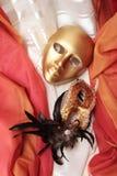 χρυσές μάσκες Βενετός Στοκ Φωτογραφίες