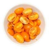 Χρυσές ντομάτες κερασιών ήλιων στοκ εικόνες