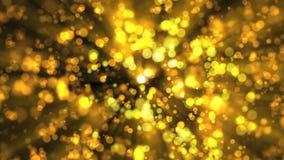 Χρυσές περιστρεφόμενες σφαίρες φιλμ μικρού μήκους