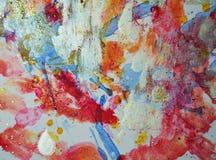 Χρυσές πορτοκαλιές ρόδινες μορφές κρητιδογραφιών χρωμάτων, αφηρημένα χρώματα κρητιδογραφιών Στοκ εικόνες με δικαίωμα ελεύθερης χρήσης