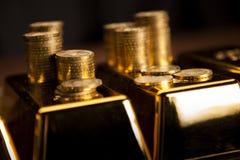 Χρυσές ράβδοι! Χρήματα και οικονομικός Στοκ Φωτογραφία