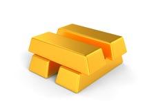 Χρυσές ράβδοι διανυσματική απεικόνιση