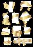 χρυσές ταινίες Στοκ Εικόνες
