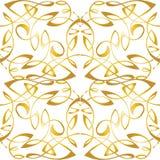 Χρυσή άνευ ραφής διακοσμητική διακόσμηση Κομψή σύσταση πολυτέλειας για το wa Στοκ Φωτογραφίες