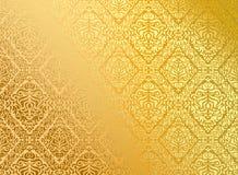 χρυσή άνευ ραφής ταπετσαρί& Στοκ φωτογραφία με δικαίωμα ελεύθερης χρήσης