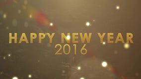 Χρυσή έκρηξη που λαμπιρίζει, νέος εορτασμός καλή χρονιά 2016 έτους διακοπών απεικόνιση αποθεμάτων