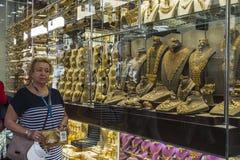 Χρυσή αγορά στο Ντουμπάι Στοκ Φωτογραφίες