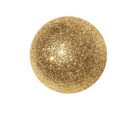 Χρυσή λαμπρή σφαίρα Στοκ φωτογραφία με δικαίωμα ελεύθερης χρήσης