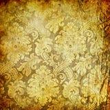 χρυσή αναδρομική ταπετσα Στοκ εικόνα με δικαίωμα ελεύθερης χρήσης