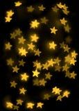 Χρυσή ανασκόπηση αστεριών Στοκ Εικόνες