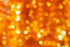 Χρυσή ανασκόπηση bokeh Στοκ φωτογραφία με δικαίωμα ελεύθερης χρήσης