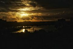 χρυσή ανατολή Στοκ Εικόνες