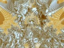 Χρυσή δαντέλλα Στοκ φωτογραφία με δικαίωμα ελεύθερης χρήσης