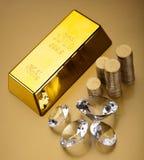 Χρυσή αξία, περιβαλλοντική οικονομική έννοια στοκ εικόνα