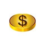 Χρυσή απεικόνιση νομισμάτων Στοκ Εικόνα