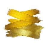 Χρυσή απεικόνιση φύλλων αλουμινίου Να λάμψει λεκέδων χρωμάτων σύστασης Watercolor αφηρημένο κτύπημα βουρτσών για σας καταπληκτικό διανυσματική απεικόνιση