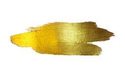 Χρυσή απεικόνιση φύλλων αλουμινίου Να λάμψει λεκέδων χρωμάτων σύστασης Watercolor αφηρημένο κτύπημα βουρτσών για σας καταπληκτικό απεικόνιση αποθεμάτων