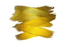 Χρυσή απεικόνιση φύλλων αλουμινίου Να λάμψει λεκέδων χρωμάτων σύστασης Watercolor αφηρημένο κτύπημα βουρτσών για σας καταπληκτικό Στοκ φωτογραφία με δικαίωμα ελεύθερης χρήσης