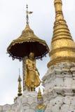 Χρυσή αρχιτεκτονική ναών stupa παραδοσιακή στην παγόδα Yangon το Μιανμάρ Νοτιοανατολική Ασία shwedagon Στοκ Εικόνες
