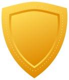 χρυσή ασπίδα απεικόνιση αποθεμάτων