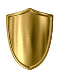 χρυσή ασπίδα Στοκ εικόνες με δικαίωμα ελεύθερης χρήσης